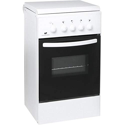 Continental edison ce105wsc2 -cuisiniere Table gaz-4 foyers-Four gaz-Nettoyage Manuel Email lisse-40l-a+-l45 x h86cm-blanc