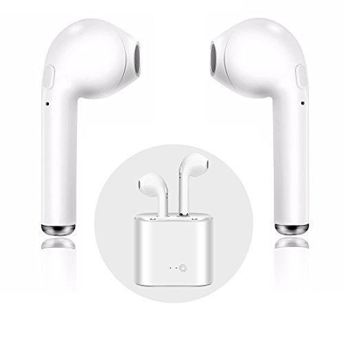Bluetooth-Headset, i7 Wireless-Headset Sport-Kopfhörer mit Lade-Kit Mini-In-Ear-Kopfhörer mit Mikrofon Kopfhörer, Freisprecheinrichtung iPhone X 8 8 plus 7 7 plus 6 S Samsung IOS Android Smartphone