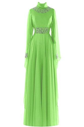 Sunvary guaina collo alto in Chiffon con perline a forma di abiti da sera Gowns sera Light Lime