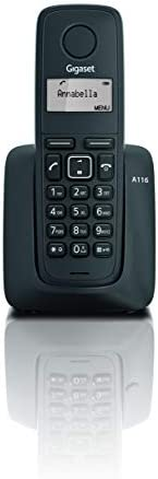 Gigaset A116 Cordless Phone with 12 Hrs Talk Time, 130 Hrs Standby, 50M Indoor & 300M Outdoor Range, Speak