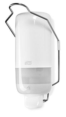 Tork 560100 Spender mit Armhebel für Flüssig- und Sprayseife S1/Weißer Seifenspender in modernem Elevation Design (S1 Seifenspender)