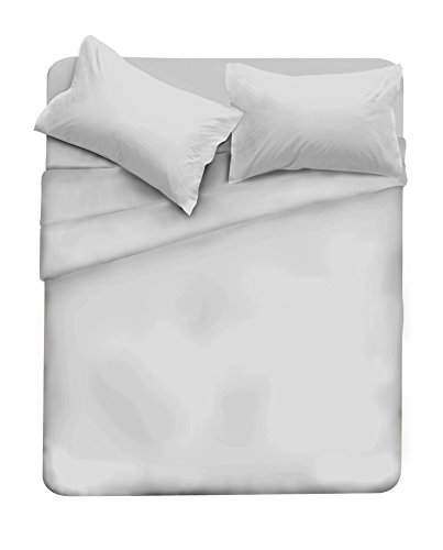 Elegant completo letto, microfibra, cl el grigio 2pst, matrimoniale, 250 x 280 cm, 4 unità