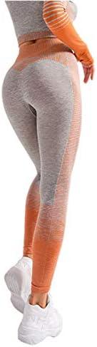 Dames Naadloze legging met hoge taille Stretchcompressie Sneldrogende yogabroek Running Workout Gym Tummy Control Leggings P