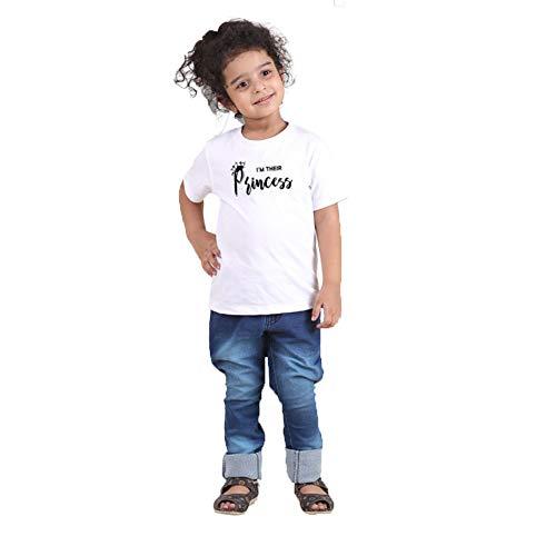 Familie passenden Kurzarm König Prince gedruckt Outfits Eltern-Kind Kleidung, Papa Mama Kinder Spiel T-Shirts Familie Kleidung Sets White Girls 5-6T