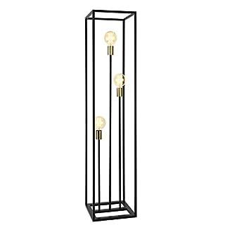 lux.pro] Stehleuchte 140cm Design Standlampe 3 x E27 60WStehlampe Standleuchte Stand Lampe Metall 3-flammig