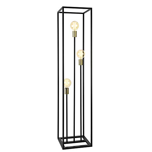 lux.pro] Lampadaire Lampe sur Pied Métal E27 Noir 140 x 30 x 30 cm