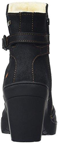 Art Travel Strap Ankle Boot, Bottes Classiques femme Noir - Black (Waxy Black)