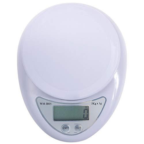 Balanzas electrónicas digitales, utensilios de cocina, intercambio de unidades (g, oz, lb), rango de pesaje de 5 kg / 1 g