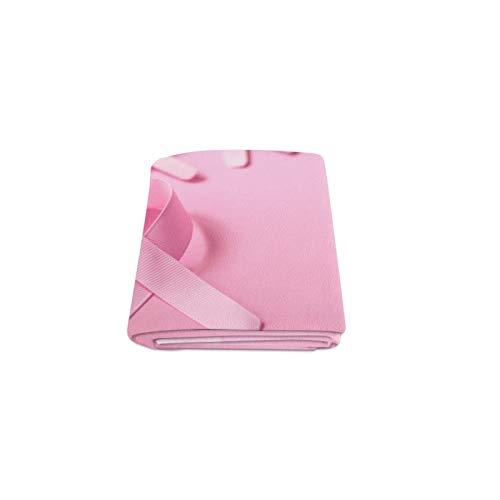 Plsdx Pink Ribbon Breast Cancer Awareness Gewohnheit Winter Leichter Komfortable Pelz Fuzzy Super Soft Fleece Couch Sofa Und Bett Decke Für Baby Frauen Größe 40x50 Zoll Maschine Waschbar Breast Cancer Fleece