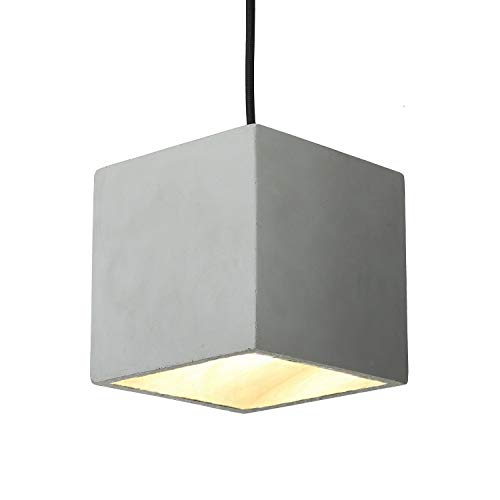 MOTENT Kreative Modern Industrielle Pendelleuchte - Vintage Hängeleuchter Kronleuchter Zement Quadratische Säule Hängelampe E27 Lampenfassung Deckenleuchte für Küchen Keller Esszimmer