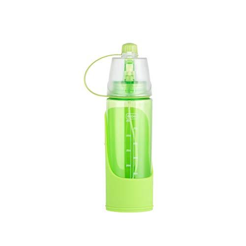 che für tragbare Reisen Wasser Trinken Cup Dispenser Menschen Haustier Dual Use(Grün,600ml) ()