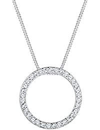 0a0e34cde Elli Women's 925 Sterling Silver Swarovski Crystals Circle Geo Necklace