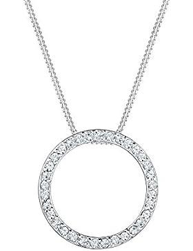 Elli Halskette Kreis Swarovski Kristalle 925 Silber vergoldet 0111361416