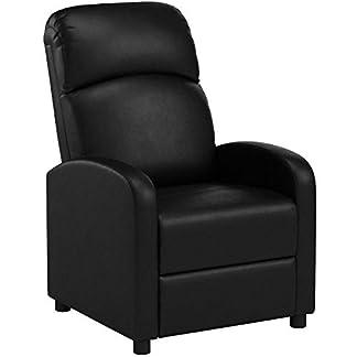 PRIXTON – Poltrona Relax Reclinabile / Poltrone Relax Reclinabile da Massaggio Elettrica Reclinabile con Funzione di Riscaldamento, Telecomando Incluso, Colore Nero, Dimensioni 65x89x101