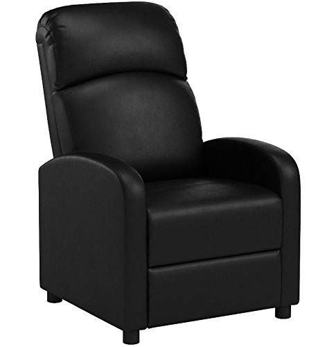 PRIXTON – Poltrona Relax Reclinabile/Poltrone Relax Reclinabile da Massaggio Elettrica Reclinabile con Funzione di Riscaldamento, Telecomando Incluso, Colore Nero, Dimensioni 65x89x101