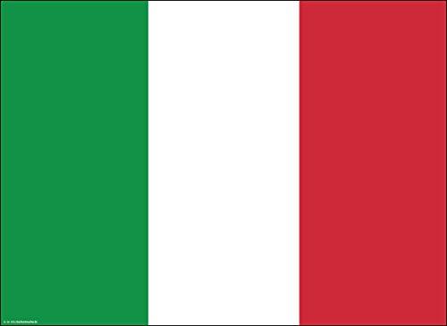 Tischsets | Platzsets Italienische Flagge - 10 Stück in hochwertiger Aufbewahrungsmappe