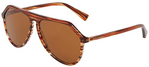 4b3673ba43 Dolce & Gabbana 0DG4341, Gafas de Sol para Hombre, Striped Orange, ...