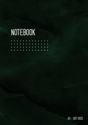 Dot Grid Notebook A5: Journal Notebook Marble Green Black for Writing and Drawing, Blank, Small, Softcover, Dotted Matrix, Numbered Pages, No Bleed (A5 Calligraphy Dot Grid Journals) por Katie Kate