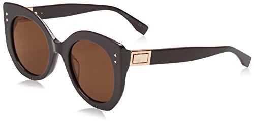 Fendi Damen FF 0265/S LC 09Q 52 Sonnenbrille, Braun Bw Black Brown