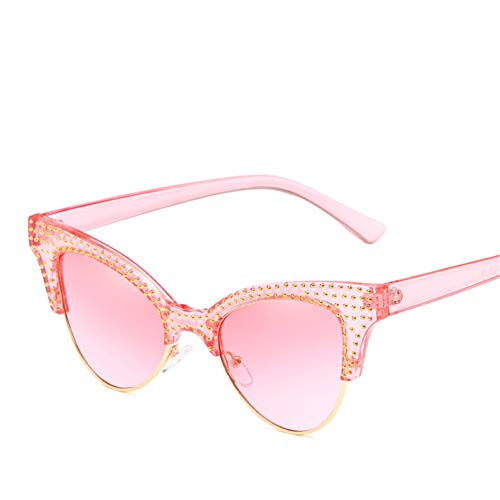 Wenkang Fashion Diamond Cat Eye Sunglasses Female Sun Glasses for Women Shades Ladies Eyewear Designer Vintage Glasses Uv400,6