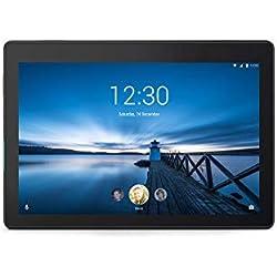 Lenovo Tab E10 10.1''HD Tablette tactile Noire (Processeur Qualcomm APQ8009 4Coeurs, 2 Go de RAM, eMMC 32 Go, Android 8.0, Wifi)