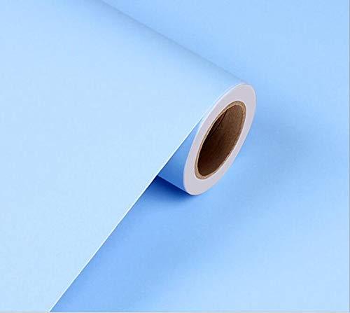 PVC Vinyl Tapeten Rolle Möbel Küche Dekoration Tapete Vinyl Dekorative Wandaufkleber DIY Dekor Home PVC, Sky Blue, 60 cm X 10 m ()