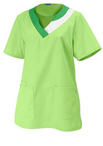 clinicfashion Schlupfhemd hellgrün für Damen, Mischgewebe, Größe 32-52 Hellgrün