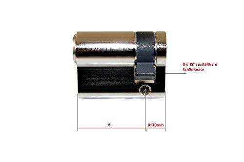 BKS Halbzylinder PZ 8900 Baulänge: 31mm ( 30mm ) ( 31/10 ) auch Gleichschließend möglich (Hinweistext beachten !) - 2
