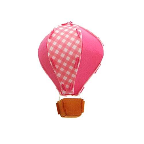 3D-Heißluft-Ballon-Geburtstags-Party-Dekorationen Decke hängt Garland für Kinderklassenzimmer Babyparty-Dekoration Ornament Rosa 1 Stück