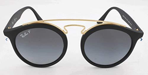 RAYBAN JUNIOR Unisex-Erwachsene Sonnenbrille Gatsby I Matte Black/Greygradientpolar, 49