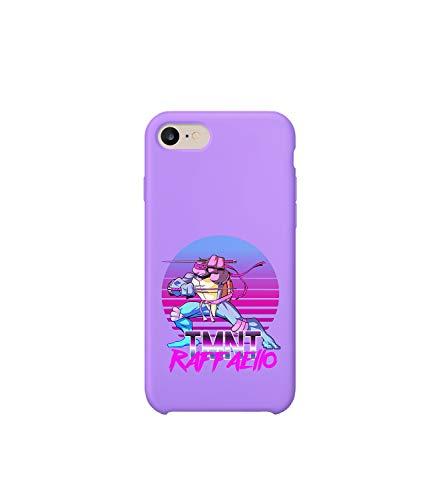 nja Turtles Raph Vaporwave Sunset_A1181 Handyhulle Handyhülle Schutz Hülle Kompatibel mit Protective Case Cover for iPhone 8 Gift Christmas ()