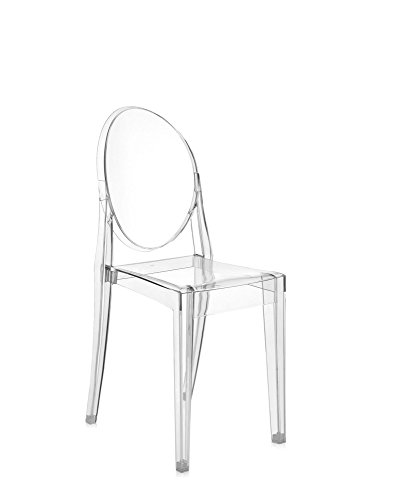 Kartell Victoria Ghost Stool designed by Philippe Starck, Crystal Clear