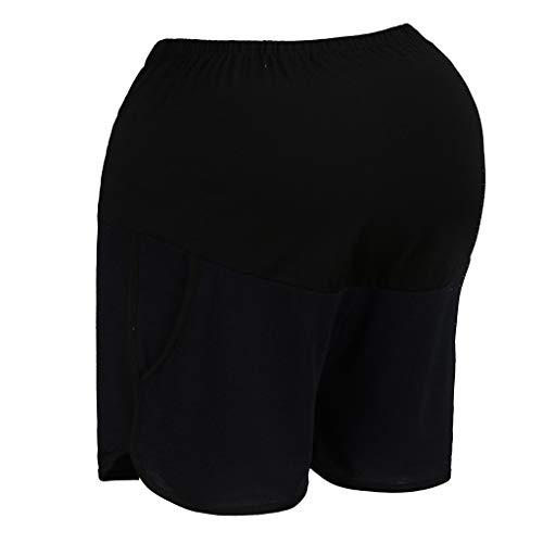Dasongff Umstandsshorts Mutterschaft Kurze Hosen Mode Damen Weich Elastische Umstandshose Schwangere Frauen Leggings Freizeit Shorts Damen Taille Einstellbar Sommer