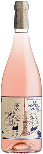 Le Poteau Rose, vendu en coffret de 6 bouteilles x 0,75 litre, cépage Cinsault, Vin français, millésime 2017