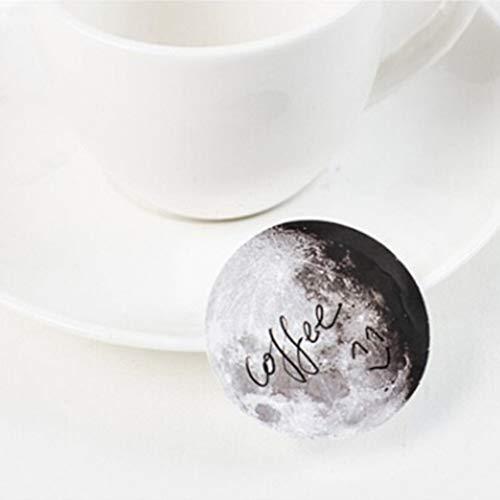 Yuguijia Kreative 45 Stück\/Box Kawaii Mond Mini Papier Aufkleber Tagebuch Scrapbooking Aufkleber Zarte Geschenk -