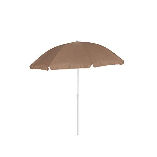 greemotion Parasol rond inclinable couleur taupe - Parasol jardin avec pied - Parasol anti UV 35+ - Parasol orientable et réglable en hauteur - Parasol de table 8 baleines haute qualité