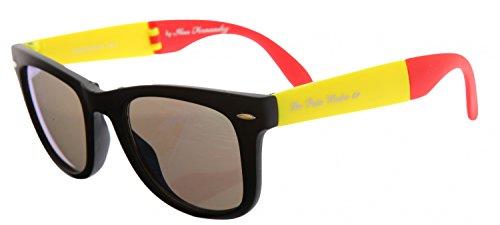 e1400b0baa3690 De Puta Madre 69 Adultes Unisexe Lunettes de soleil Pliante lunettes noir bleu  DZ2039S-