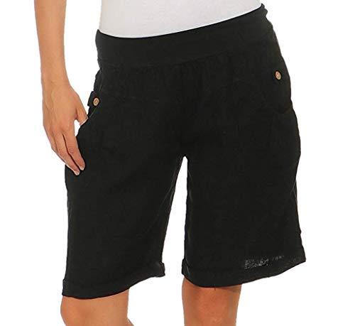 Leggings Court Femme Sport Sexy Fitness Taille Élastique Pantalon Femme Taille Haute Blanc Pas Cher Jean Pantacourt Femme Ete Stretch Bermuda Sweatpants Pantalon De Cyclisme sur-Genou Shorts