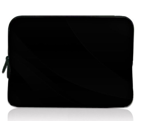 colorfulbags-plain-black-design-116-inch-laptop-notebook-tablet-chromebook-sleeve-case-bag-cover-for