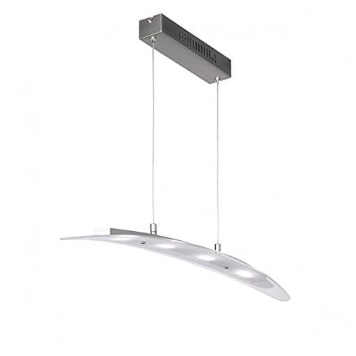 Illuminazione interni Lampadario a sospensione LED metallo nickel – Proposta da VALASTRO LIGHTING