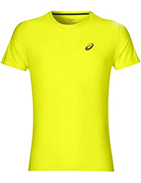Asics SS Top Camiseta de Manga Corta, Hombre, Amarillo (Safety Yellow), M