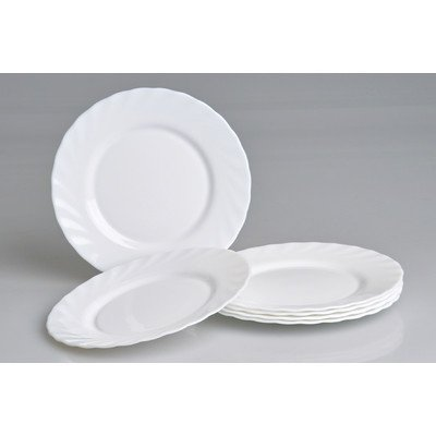 Luminarc Trianon Side Plate Plates ', diameter 19.5cm, opal glass, white (Pack of 6)