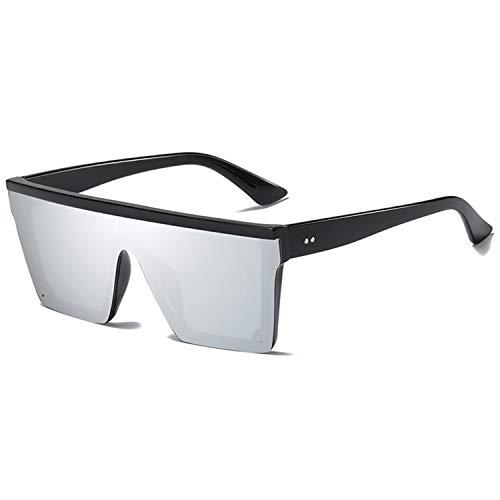 AOCCK Sonnenbrillen,Brillen, Rimless Square Sunglasses Men Mirroed Ladies Sunglasses Women Fashion Sun Glasses For Male Brand Lentes De Sol Mujer Hombres silver