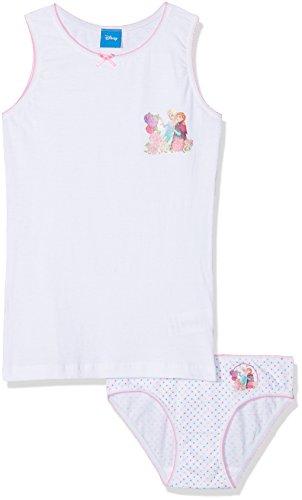 Die Eiskönigin Mädchen Unterwäsche-Set Frozen, Weiß (Bianco 01), 6/7 Jahre