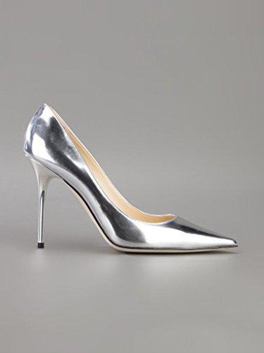 Onlymaker Damenschuhe High Heels Spitze Toe Pumps Silber