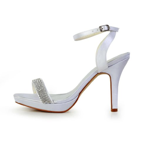 Jia Jia Wedding 37021 chaussures de mariée mariage Escarpins pour femme Blanc