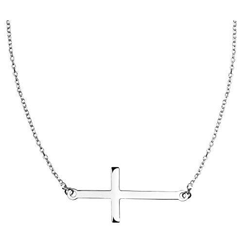 SOFIA MILANI Damen Halskette Kreuz Anhänger Silber 50057