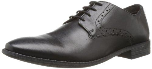 Clarks Herren Chart Walk Derby, Schwarz (Black Leather), 43 EU (Clark Schuhe Von)