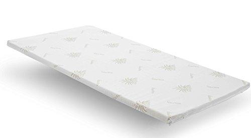 Nova Sleep Topper 160x200 cm Visco Topper H2 weich RG 50m³ Aloe Vera Bezug mit Kernhöhe 3 cm, Gesamthöhe 4 cm, 200 gramm. Klimawatte Art. Nr. 17-V3-AV-160