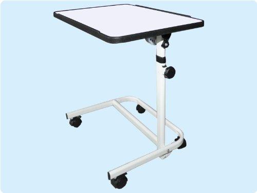 Beistellwagen Krankentisch Beistelltisch Beistell-Tisch Bett-Tisch/ weiß fahrbar TOP-QUALITÄT